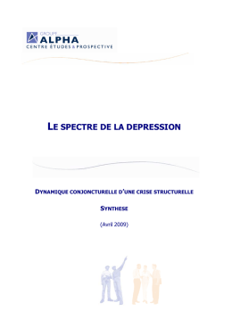 le spectre de la depression synthese 042009