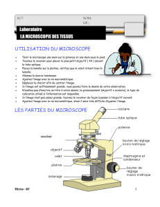 lab microscopie tissus - La science et fiction de Robert