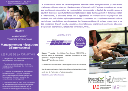 Management et négociation à l`international