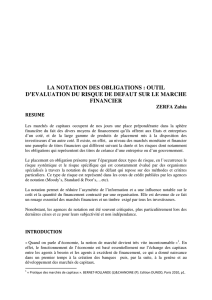 la notation des obligations