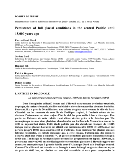 Persistence of full glacial conditions in the central Pacific