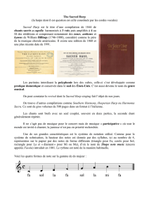 The Sacred Harp (la harpe dont il est question est celle constituée
