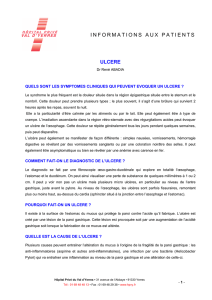 informations aux patients ulcere