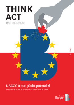 Think Act - L`AECG à son plein potentiel