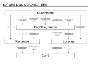 Quadrilatère Parallélogramme Rectangle Losange Carré