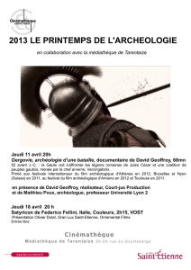 2013 LE PRINTEMPS DE L`ARCHEOLOGIE Jeudi 11 avril 20h