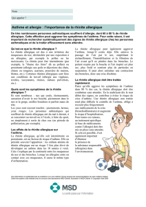 Asthme et allergie : l`importance de la rhinite allergique