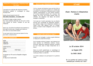 Dépliant stage et bulletin d`inscription