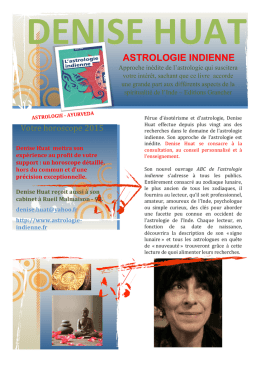 ASTROLOGIE INDIENNE - C2LAURE Communication