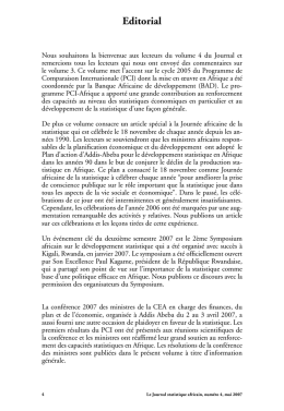 Journal statistique africain Vol. 4 (Editorial)