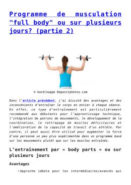 programme musculation full body pdf