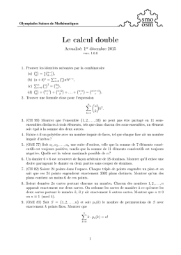 Le calcul double