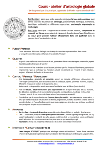 Cours – atelier d`astrologie globale