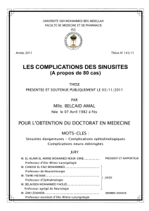 LES COMPLICATIONS DES SINUSITES