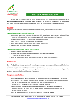 responsable marketing h/f