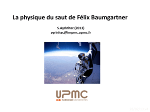 La physique du saut de Félix Baumgartner (Red bull