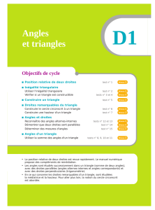 Angles et triangles