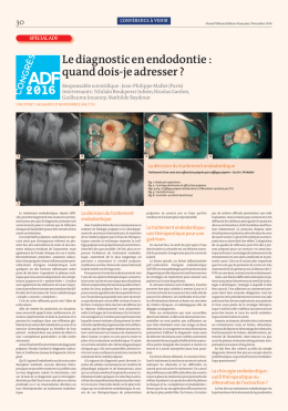 Le diagnostic en endodontie - Dental Tribune International