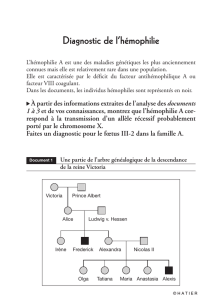 Diagnostic de l`hémophilie