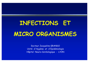 INFECTIONS ET MICRO ORGANISMES