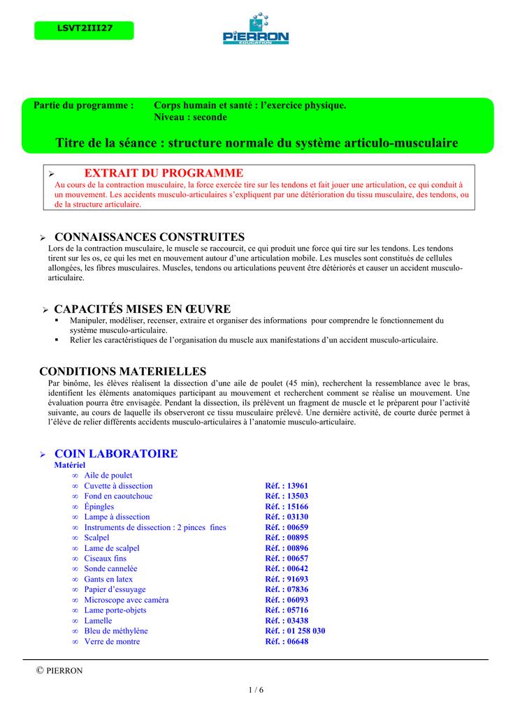 SVT - 2nde - Corps humain et santé, l`exercice physique