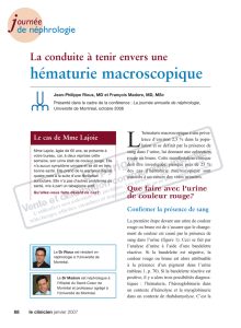 hématurie macroscopique - STA HealthCare Communications