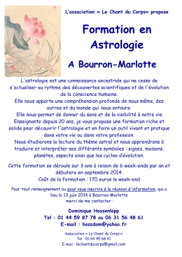 Affiche A3 Astrologie week-end 2014 - Bourron