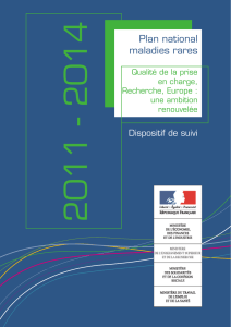 Plan national maladies rares : dispositif de suivi