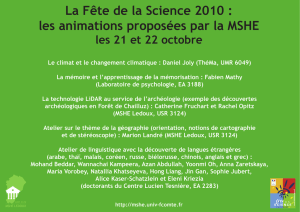 La Fête de la Science 2010