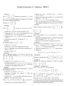 Feuille d`exercices 21 - Matrices