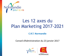 Les 12 axes du Plan marketing 2017-2021