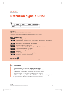 Rétention aiguë d`urine
