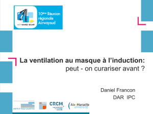 La ventilation au masque à l`induction