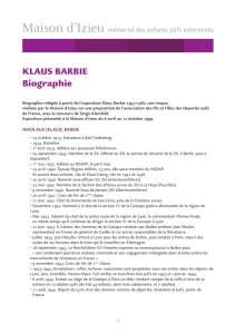 KLAUS BARBIE Biographie