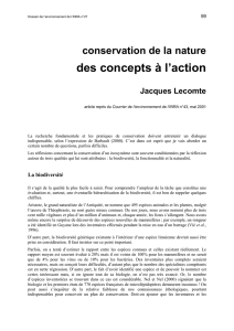 des concepts à l`action