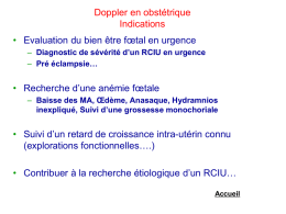Doppler en obstétrique