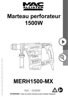 MERH1500-MX Marteau perforateur 1500W