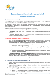 Comment soutenir la motivation des patients