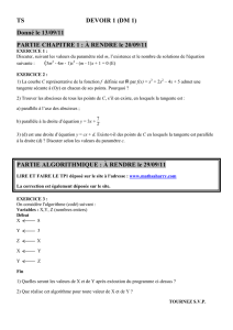 devoir 1 - Maths à Harry