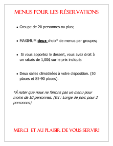 menu de groupe