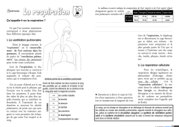 Sciences 1. La ventilation pulmonaire Qu`appelle
