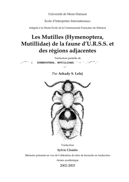 Traduction par - Atlas Hymenoptera