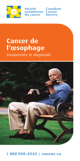 Cancer de l`œsophage : Comprendre le diagnostic