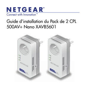 Powerline AV+ 500 Nano Set XAVB5601 Installation Guide