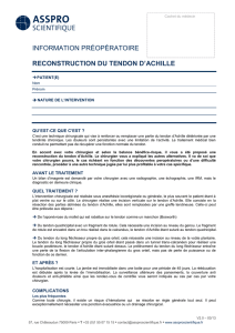 Reconstruction Tendon d`Achille