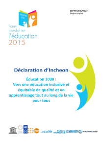Déclaration d`Incheon - UNESDOC