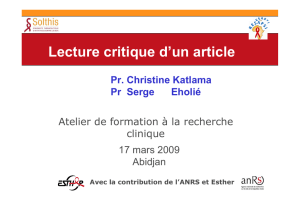 Lecture rédaction d`un article - S. Eholie C. Katlama
