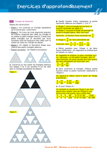 62 Triangle de Sierpinski Étapes de construction
