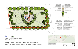 Creekview Park - Park Development Concept Plan