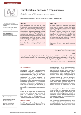 Cas clinique - Batna Journal of Medical Sciences